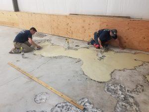 epoxy flooring before