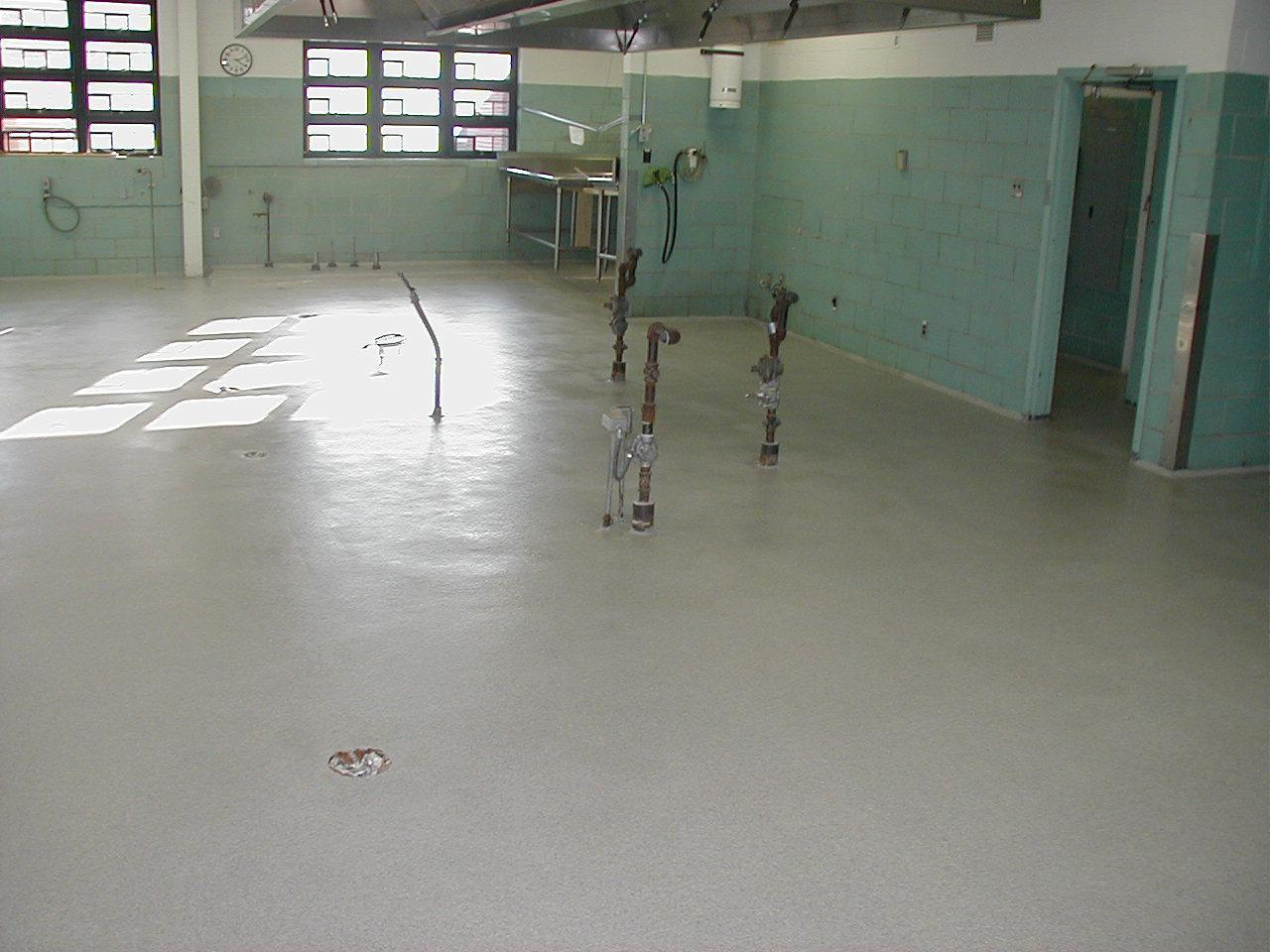 epoxy flooring project after
