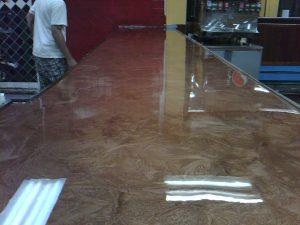 polished epoxy flooring