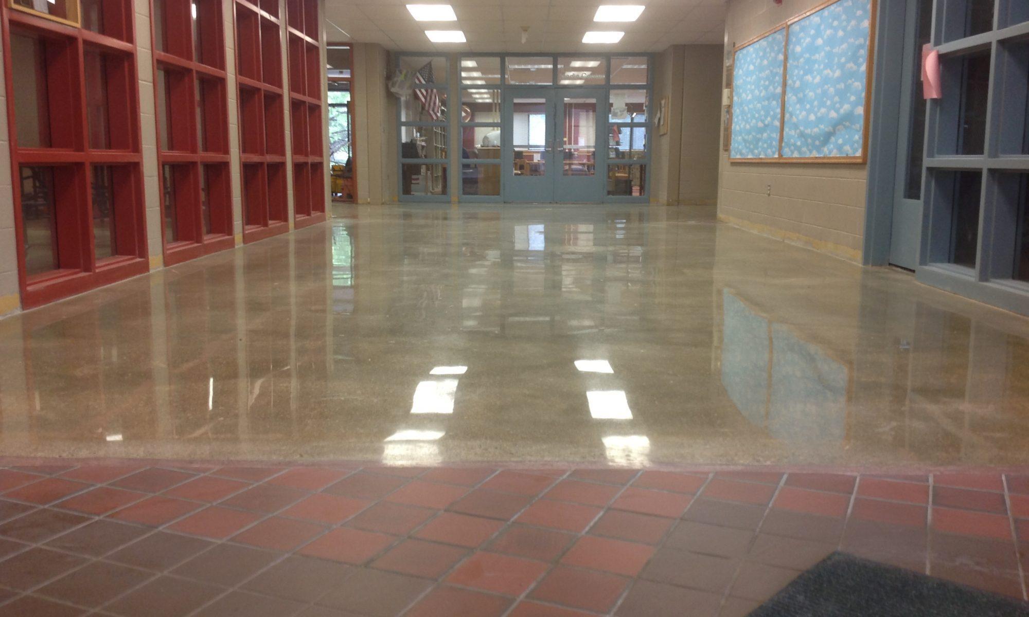 polished concrete after