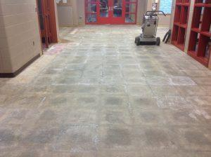 polished concrete before