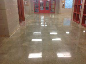 polished concrete after