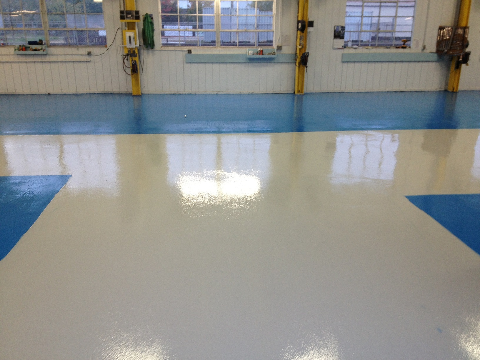 polished epoxy flooring